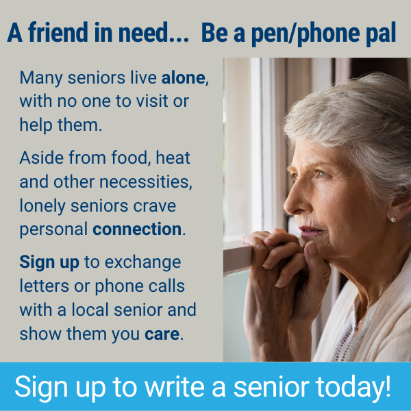 Sign Up to be a Senior Pen Pal